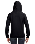 Black Ladies' Sydney Brushed V-Neck Hood as seen from the back