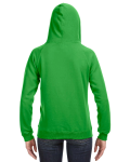 Lime Ladies' Sydney Brushed V-Neck Hood as seen from the back