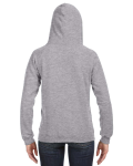 Oxford Ladies' Sydney Brushed V-Neck Hood as seen from the back
