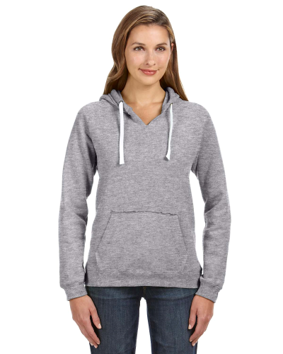 Oxford Ladies' Sydney Brushed V-Neck Hood as seen from the front