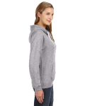 Oxford Ladies' Sydney Brushed V-Neck Hood as seen from the sleeveleft