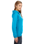 Turqberry Ladies' Sydney Brushed V-Neck Hood as seen from the sleeveleft