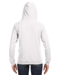 White Ladies' Sydney Brushed V-Neck Hood as seen from the back