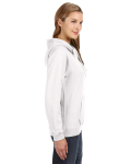 White Ladies' Sydney Brushed V-Neck Hood as seen from the sleeveleft