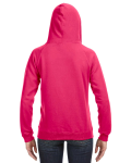 Wildberry Ladies' Sydney Brushed V-Neck Hood as seen from the back