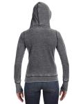 Dark Smoke Ladies' Zen Pullover Fleece Hood as seen from the back