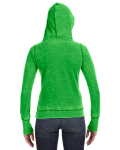 Lime Ladies' Zen Pullover Fleece Hood as seen from the back