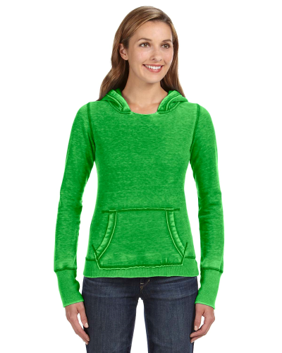 Lime Ladies' Zen Pullover Fleece Hood as seen from the front