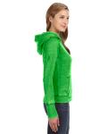 Lime Ladies' Zen Pullover Fleece Hood as seen from the sleeveleft
