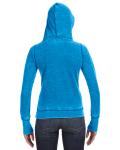 Oceanberry Ladies' Zen Pullover Fleece Hood as seen from the back
