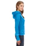 Oceanberry Ladies' Zen Pullover Fleece Hood as seen from the sleeveleft