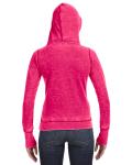 Wildberry Ladies' Zen Pullover Fleece Hood as seen from the back
