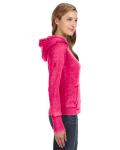 Wildberry Ladies' Zen Pullover Fleece Hood as seen from the sleeveleft