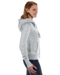 Cement Ladies' Zen Full-Zip Fleece Hood as seen from the sleeveleft
