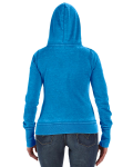 Oceanberry Ladies' Zen Full-Zip Fleece Hood as seen from the back