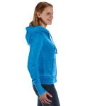Oceanberry Ladies' Zen Full-Zip Fleece Hood as seen from the sleeveleft