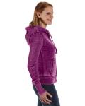 Very Berry Ladies' Zen Full-Zip Fleece Hood as seen from the sleeveleft