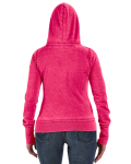 Wildberry Ladies' Zen Full-Zip Fleece Hood as seen from the back