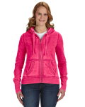 Wildberry Ladies' Zen Full-Zip Fleece Hood as seen from the front