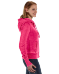 Wildberry Ladies' Zen Full-Zip Fleece Hood as seen from the sleeveleft