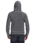 Dark Smoke Vintage Zen Fleece Pullover Hood as seen from the back