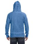 Royal Vintage Zen Full-Zip Fleece Hood as seen from the back