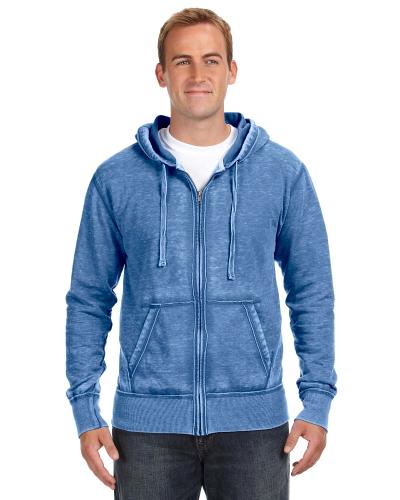 Royal Vintage Zen Full-Zip Fleece Hood as seen from the front