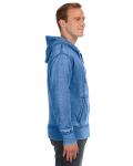 Royal Vintage Zen Full-Zip Fleece Hood as seen from the sleeveleft