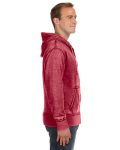 Simply Red Vintage Zen Full-Zip Fleece Hood as seen from the sleeveleft