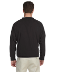 Black White Microfiber Wind Shirt as seen from the back