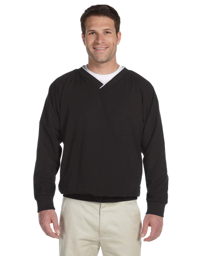 Black White Microfiber Wind Shirt as seen from the front