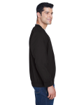 Black White Microfiber Wind Shirt as seen from the sleeveleft