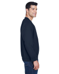 Navy White Microfiber Wind Shirt as seen from the sleeveleft