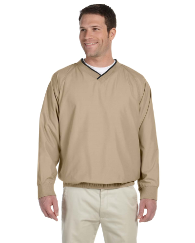 Stone Black Microfiber Wind Shirt as seen from the front