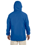 Cobalt Blue Men's Essential Rainwear as seen from the back