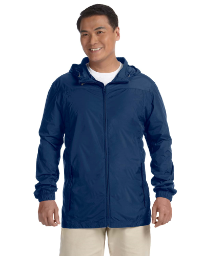 New Navy Men's Essential Rainwear as seen from the front