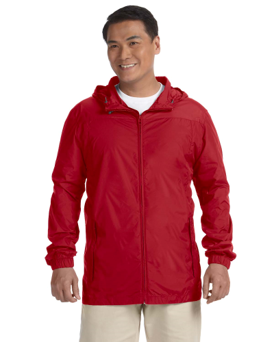 Red Men's Essential Rainwear as seen from the front