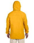 Sunray Yellow Men's Essential Rainwear as seen from the back