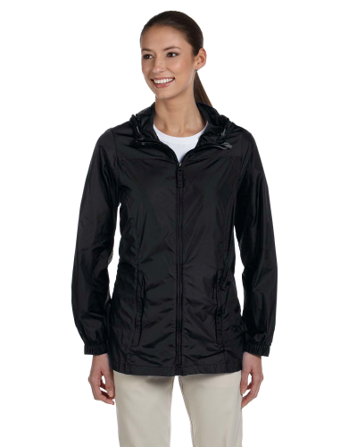 Black Ladies' Essential Rainwear as seen from the front