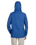 Cobalt Blue Ladies' Essential Rainwear as seen from the back