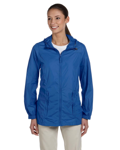 Cobalt Blue Ladies' Essential Rainwear as seen from the front