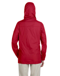 Red Ladies' Essential Rainwear as seen from the back