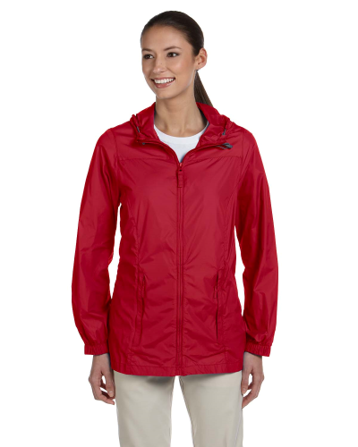 Red Ladies' Essential Rainwear as seen from the front
