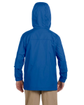 Cobalt Blue Youth Essential Rainwear as seen from the back