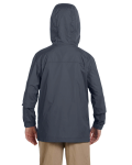 Graphite Youth Essential Rainwear as seen from the back