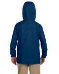 New Navy Youth Essential Rainwear as seen from the back