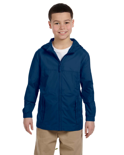 New Navy Youth Essential Rainwear as seen from the front