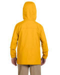 Sunray Yellow Youth Essential Rainwear as seen from the back