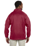 Maroon Nylon Staff Jacket as seen from the back