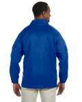 True Royal Nylon Staff Jacket as seen from the back